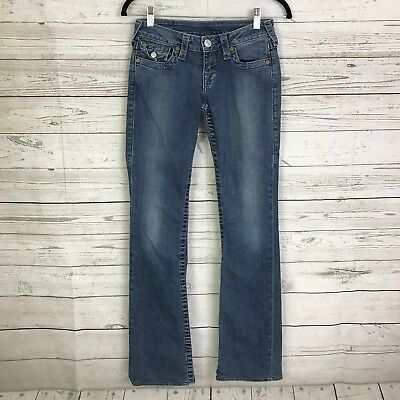 True Religion womens jeans 25 boot cut stretch flap pockets metallic