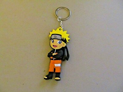 Naruto Doube Sided Rubber Keychain (New)
