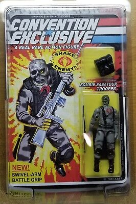 Nycc 2018 Convention Exclusive Zombie Sabatour Trooper G.i. Joe Only 30 Made