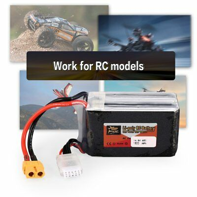 ZOP Power 14.8V 1800mAh 65C 4S Lipo Battery XT60 Plug For RC Helicopter Mo FR