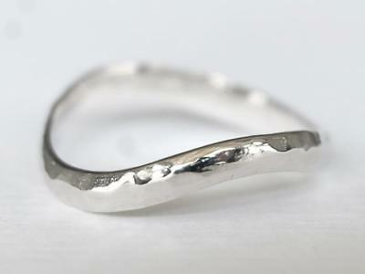 Sovats 925 Sterling Silver Fashion Hammered Thumb Ring for Women Size 5-12