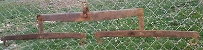 "Antique  ""IRON"" Horse Drawn Farm Yoke ~ Vintage Rustic Wall Hook Decor.58"""