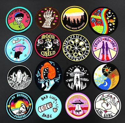 Fashion Cool UFO Alien Badge Embroidered Sew/Iron on Applique Patch New