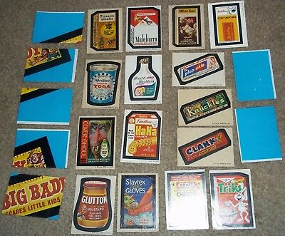 Vintage Wacky Packages 5th Series 5 Topps sticker & puzzle checklist lot 1973/74