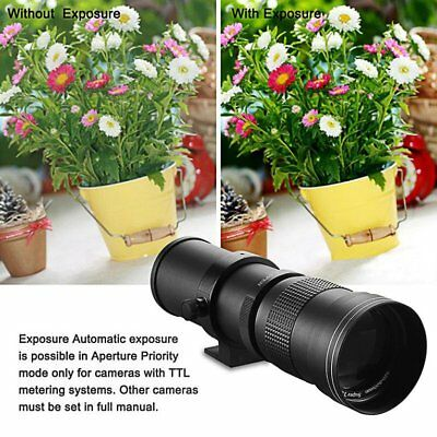 420-800mm f/8.3-16 Telephoto Lens for Nikon DSLR D7200 D5300 D5200 D3300 D32 NQ