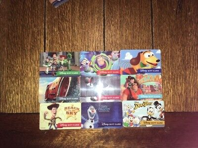 "Disney Gift Cards ""NO VALUE"" Lot of 9 Reloadable Slinky Ralph Olaf Ducktales"