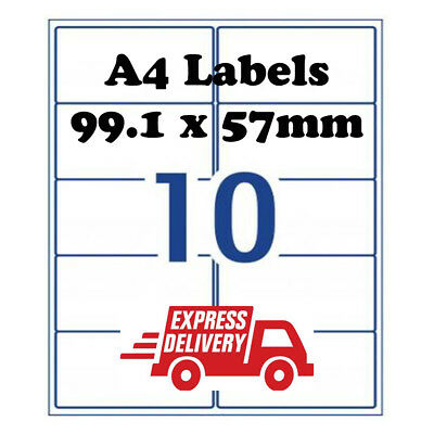 A4 Self Adhesive Address Labels Laser Inkjet Mailing Stickers 10 Per Sheet Page