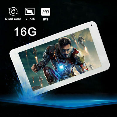 "7"" Inch Android Tablet 16GB 4 Core Dual Camera Bluetooth Wireless Wifi Tablet"