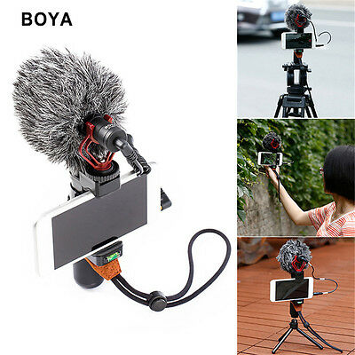BOYA for Smartphone Camer BY-MM1 Universal Cardiod Shotgun Microphone MIC Video