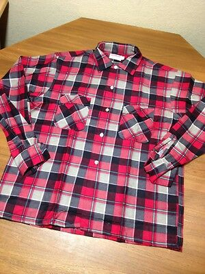 VTG 70's IRONWEAR PLAID FLANNEL SHIRT MENS MEDIUM NWOT HIPSTER