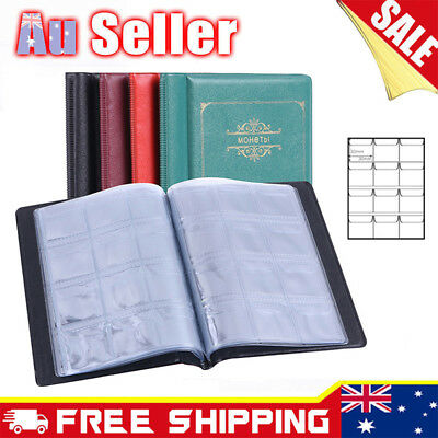 OZ Holder 120 Coins Collection Album Storage Money Penny Book Collecting Pockets