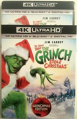 DR. SEUSS' HOW THE GRINCH STOLE CHRISTMAS with SLIP COVER  4K ULTRA HD + BLU-RAY