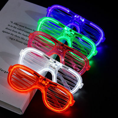 LED Glasses Light Up Glow Flashing Sunglasses Eyewear Night Club Bar Party Decor