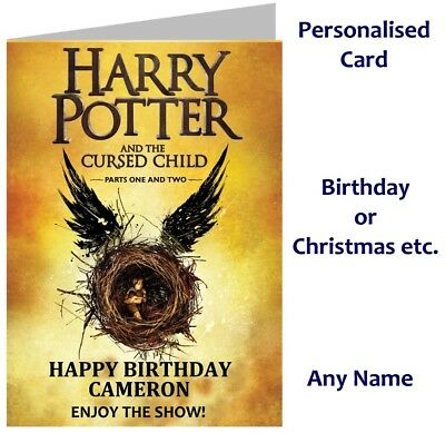Harry Potter and Cursed Child Show Ticket Wallet Card -Birthday, Christmas etc
