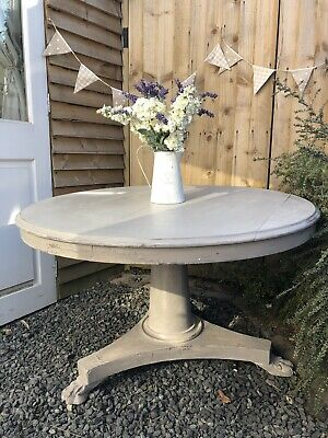 Shabby Chic Tilt Top Vintage Kitchen Dining Table Annie Sloan