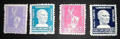 TURKEY - 1937 The 2nd Turkish Historical Congress.. FULL SET (4) MINT HINGED.