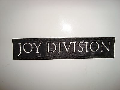 JOY DIVISION - LOGO Embroidered PATCH The Cure Smiths Bauhaus Sisters of Mercy