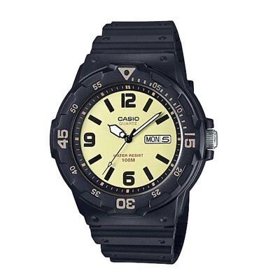 MRW-200H-5B Casio Men's black Rubber Strap Day Date 100M Analog Sports Watch