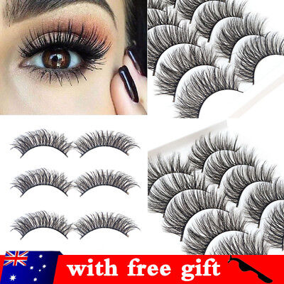 20 Pairs 3D Mink Handmade Fake Eyelashes Natural Long Wispy Makeup False Lashes