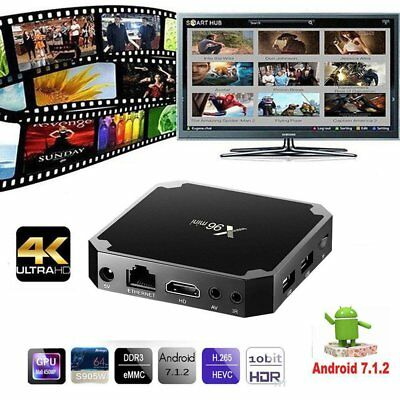 X96 Android 7.1.2 Quad Core Smart TV BOX Streamer Media Player 1GB+8GB DS