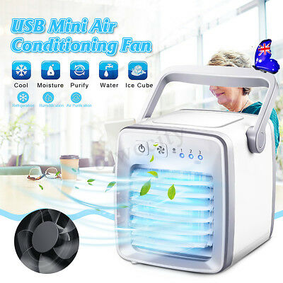 NEW Portable Mini USB Air Conditioner Cool Cooling For Bedroom Cooler Fan AU