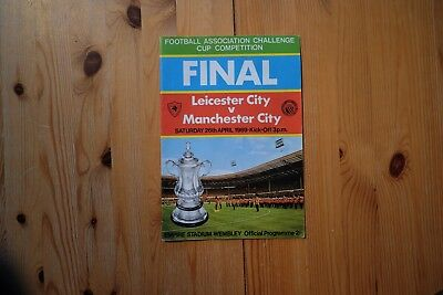 Original 1969 FA CUP FINAL PROGRAMME LEICESTER CITY v MANCHESTER CITY