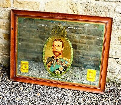 Rare Large Antique Colmans Mustard King George V Advertising Mirror. Not Enamel.