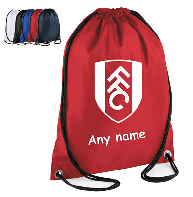 Personalised Drawstring Bag FOOTBAL FULHAM Kids PE gym Kit Sport School Gift