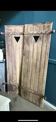 Vintage French wooden shutters