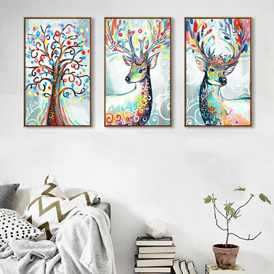 Large Modern Abstract Oil Plastic Print Painting Picture Home Wall Decor Unframe
