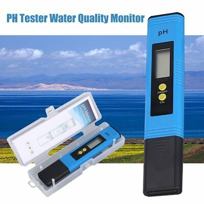 LCD Digital PH Meter 0-14PH Pen Tester for Aquarium Pool Water Quality Monitor D