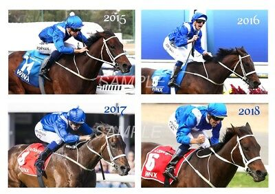 Winx A5 Postcard -  featuring her 4 Cox Plate victories