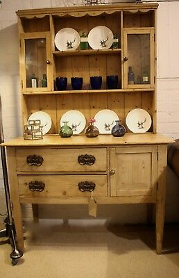 Antique Pine Dresser Of Small Proportions