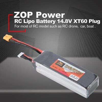 ZOP Power 14.8V 4500mAh 45C 4S Rechargeable Lipo Battery XT60 for RC Drone Ca RC