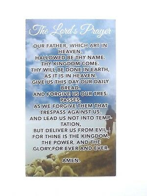 the lord's prayer Card Jesus our father rosary serenity psalms 23 bible bookmark