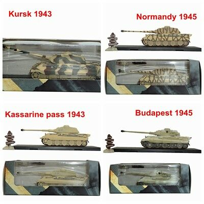 1/72 Tiger Ⅱ 1943 1945 Tank Model Road Sigh Atlas Die Cast Collection Gift
