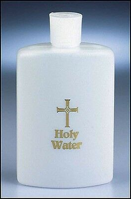 Holy Water Bottle 8 Ounces Frosted NEW SKU 10191