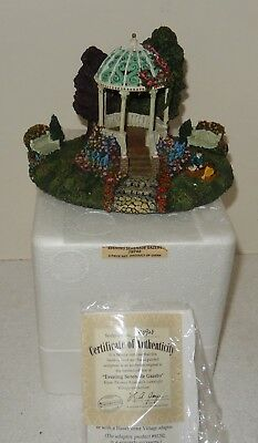 Thomas Kinkade Villages Hawthorne Village Evening Serenade Gazebo+COA+Box~~MINT