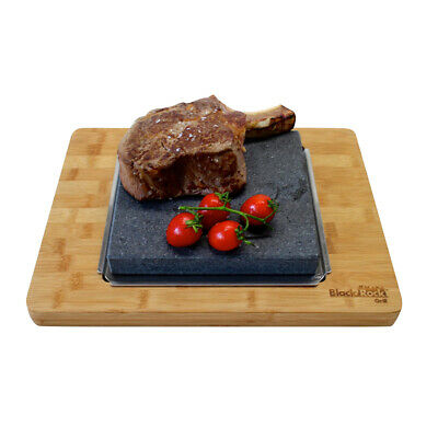 Hot Stone Cooking Steak Table Top Hibachi Black Rock Grill Lava Sizzling Outdoor