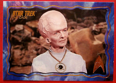 "STAR TREK TOS 50th Anniversary - ""THE CAGE"" - GOLD FOIL Chase Card #60"