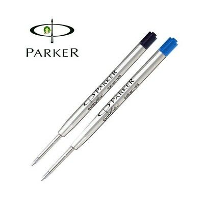 Genuine Parker Ball Pen Ballpoint Ink Refill Black Blue Medium Point Quink Flow