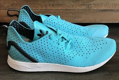 pretty nice 554c8 685bb ADIDAS ORIGINAL ZX FLUX ADV Primeknit BLUE Mens Running Shoes Size 12.5  S79064