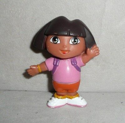 "DORA stamped Viacom DORA THE EXPLORER solid plastic figurine 3"" tall Cake Topper"