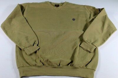 Timberland Maglione Pile Maglia Man Sweater Pullover Vintage Beige
