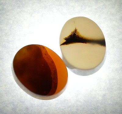 2 Pcs of Yemeni Authentic Aqeeq (Agate) Gemstone, Yemen Real Aqiq Cabochon Stone