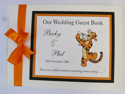 Disney Tiger Personalised Wedding Guest Book  - Any Design