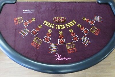 Genuine 3 Card Poker Layout from Flamingo Casino
