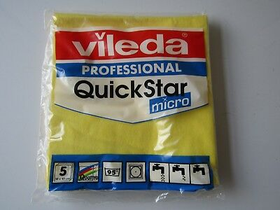 Vileda Professional Quick Star Micro Cloths - yellow