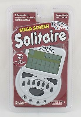 Mega Screen Solitaire Game Electronic Handheld Game Klondike Draw 1 Draw 3 New