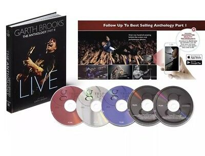 The Anthology, Part 3: Live by Garth Brooks  Hardcover & 5 CDs -NEW